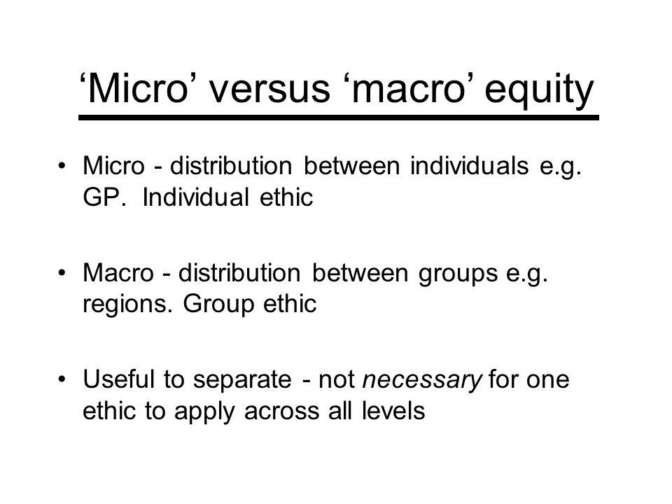 'Micro' versus 'macro' equity
