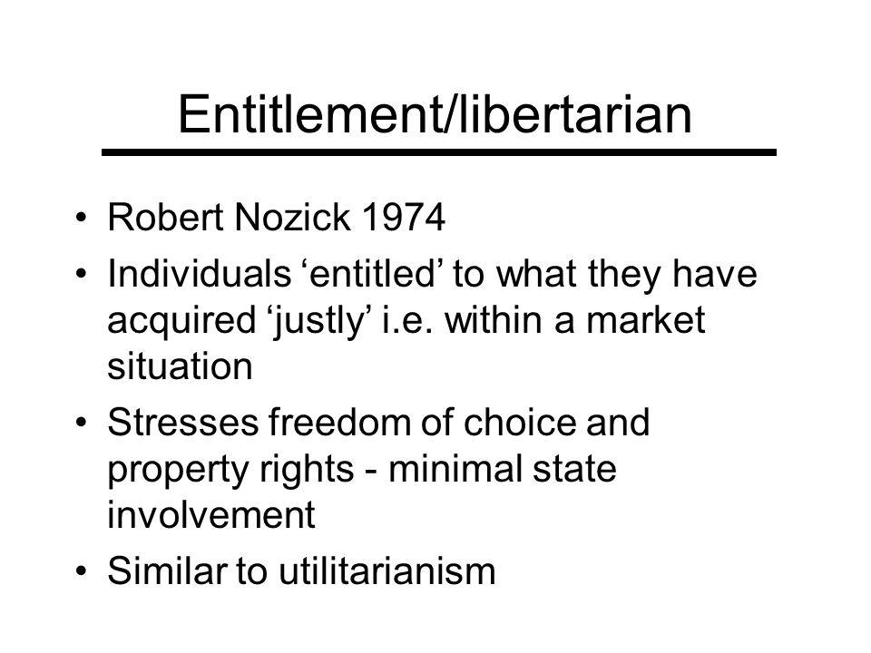 Entitlement/libertarian