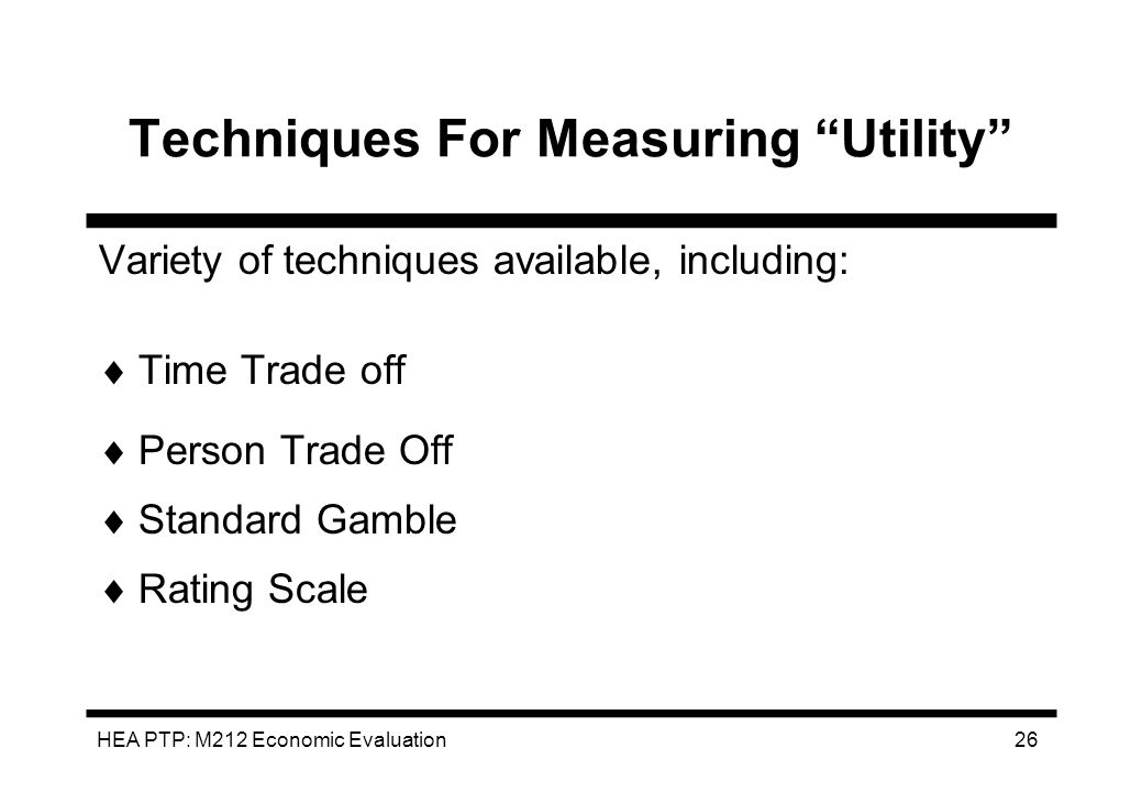 Techniques For Measuring Utility