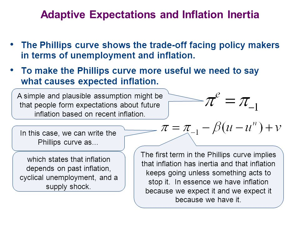 Adaptive Expectations and Inflation Inertia
