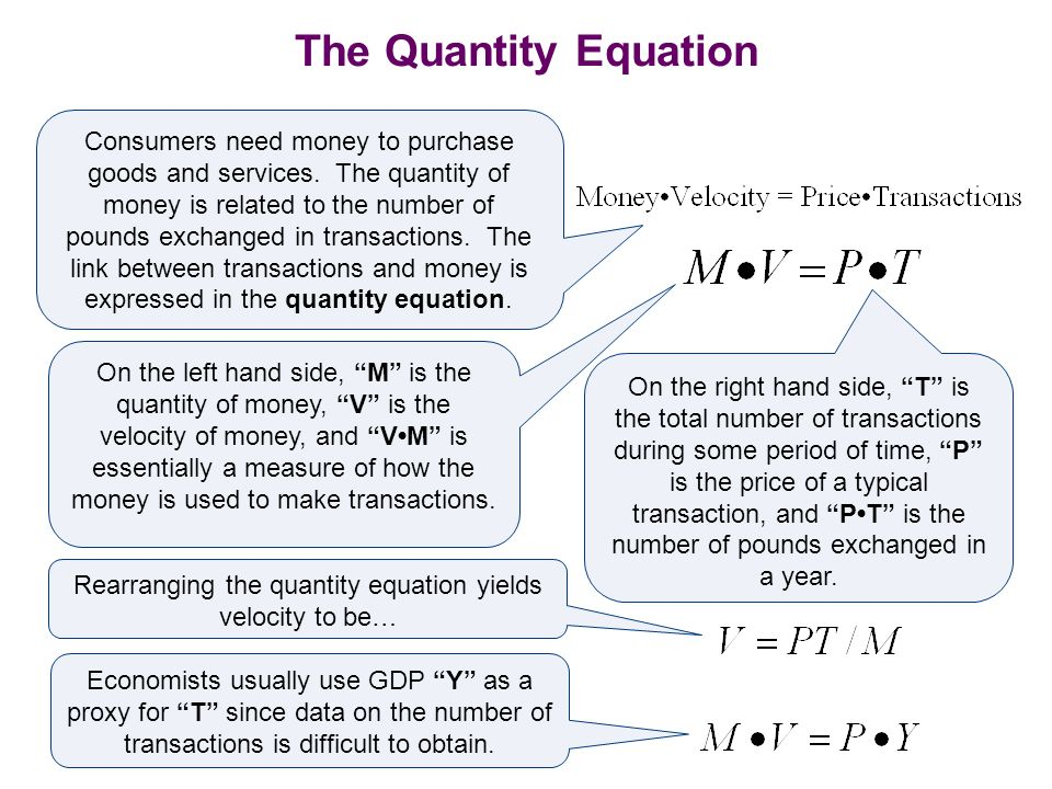 Rearranging the quantity equation yields velocity to be…