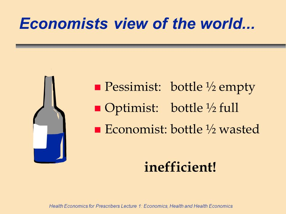 Economists view of the world...