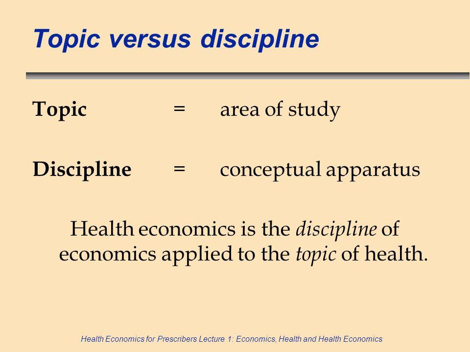 Topic versus discipline