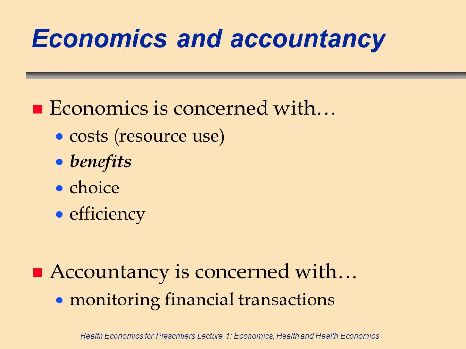 Economics and accountancy