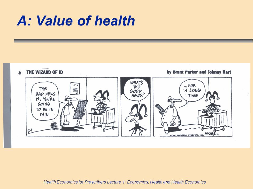 A: Value of health 91