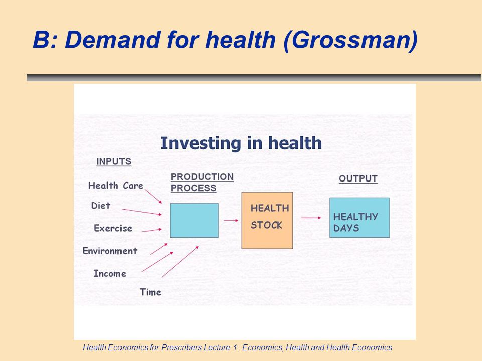 B: Demand for health (Grossman)