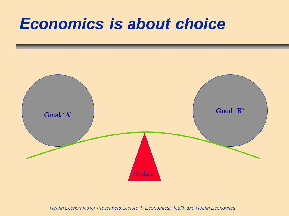 Economics is about choice