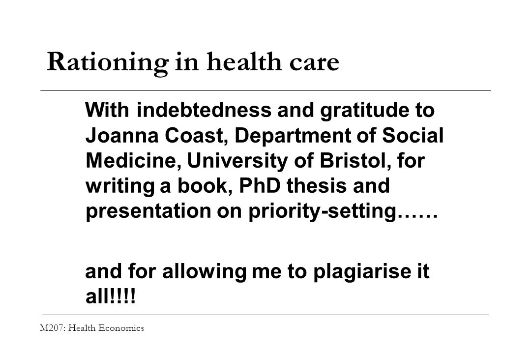 rationing healthcare Has the time come when we decide that prolonging the lives of the elderly who no longer serve the land is truly a burden on youth of society day rationing our nation's health care services basis age close at hand.