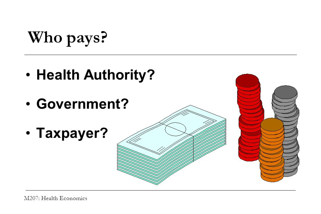 Who pays Health Authority Government Taxpayer