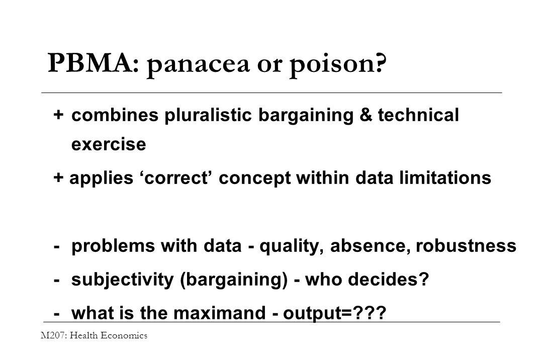 PBMA: panacea or poison