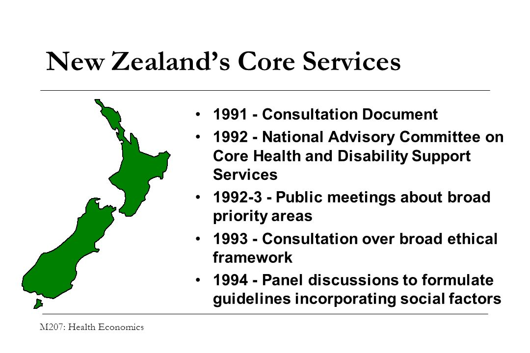 New Zealand's Core Services