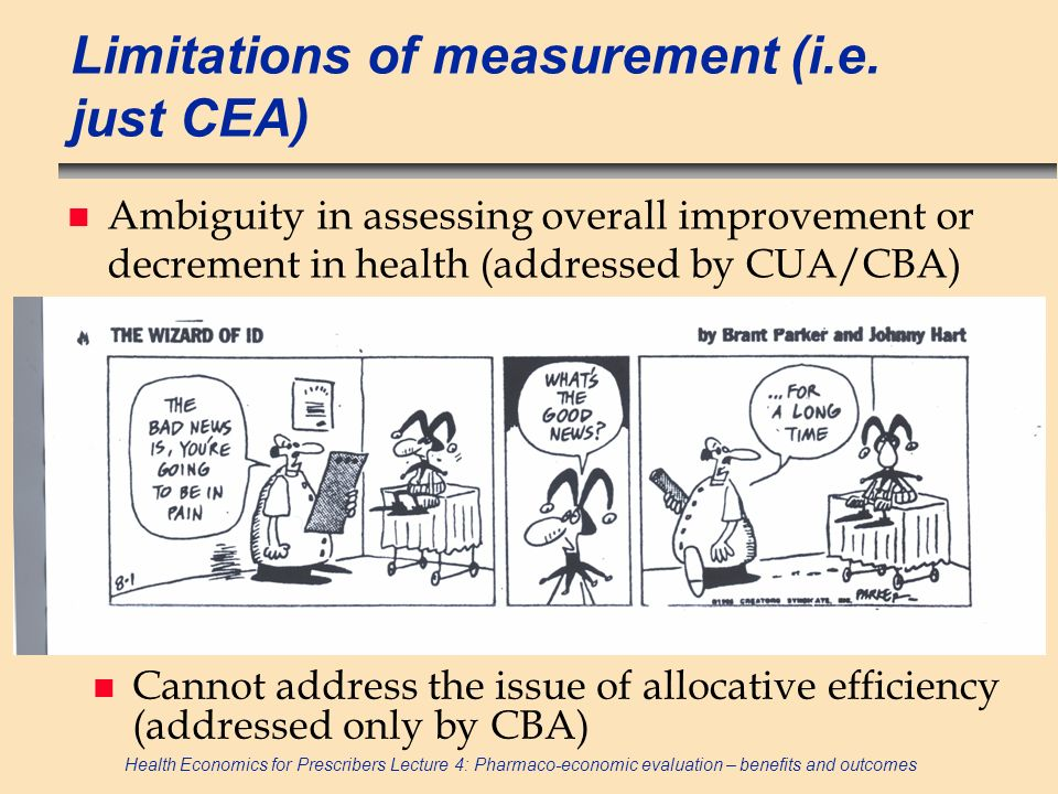 Limitations of measurement (i.e. just CEA)