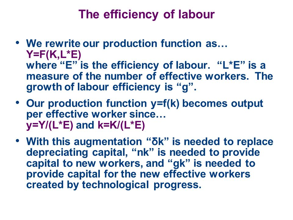 The efficiency of labour