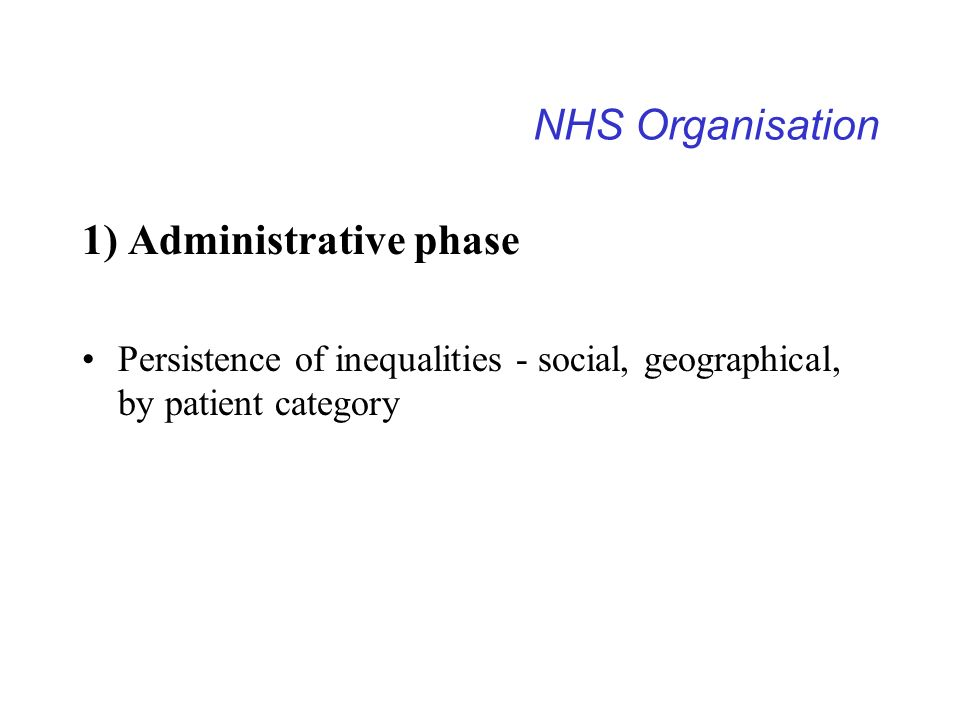 1) Administrative phase