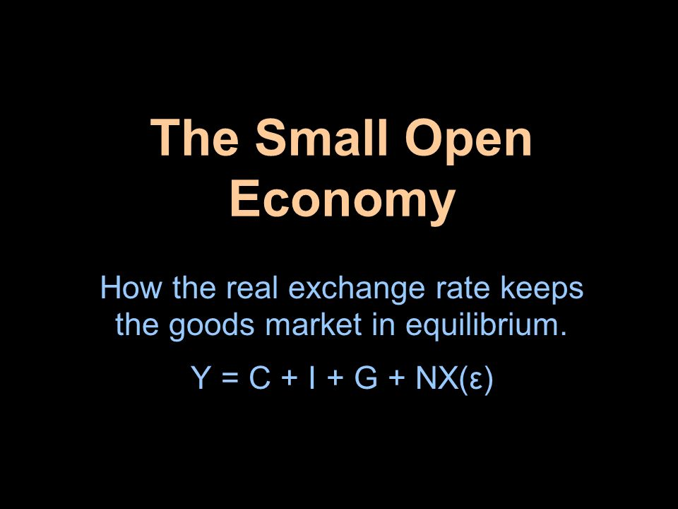 How the real exchange rate keeps the goods market in equilibrium.