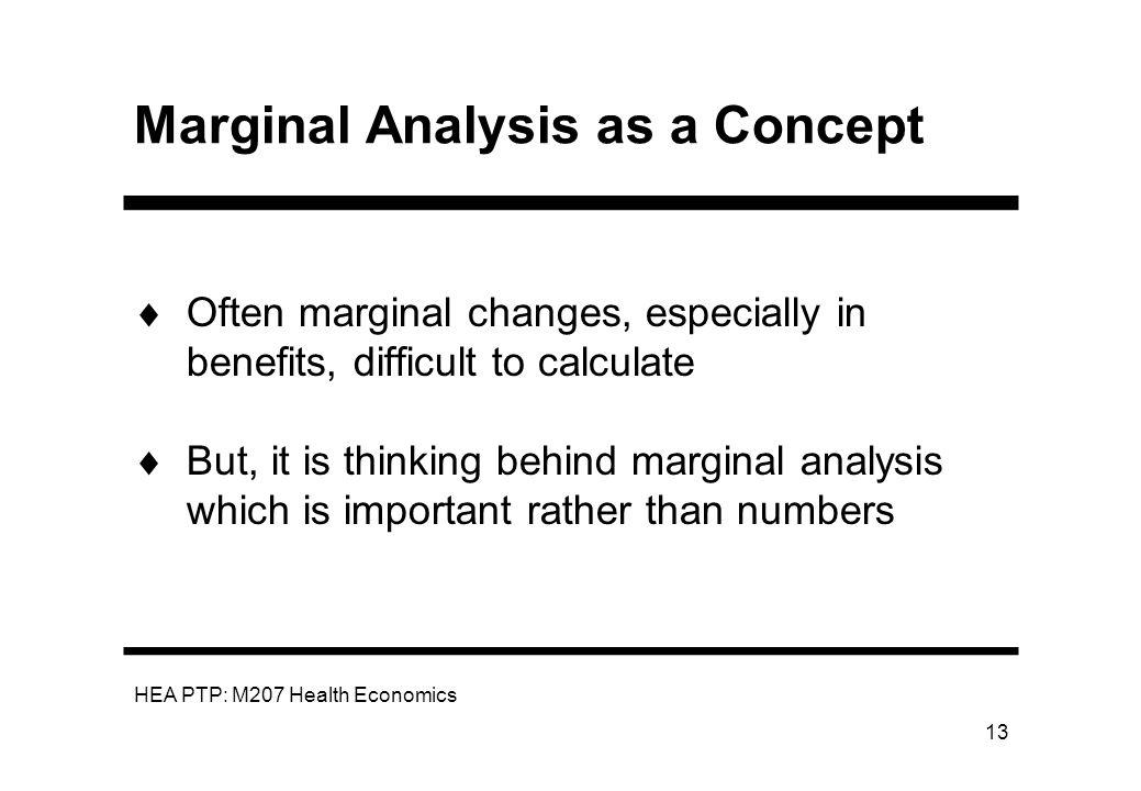 Marginal Analysis as a Concept