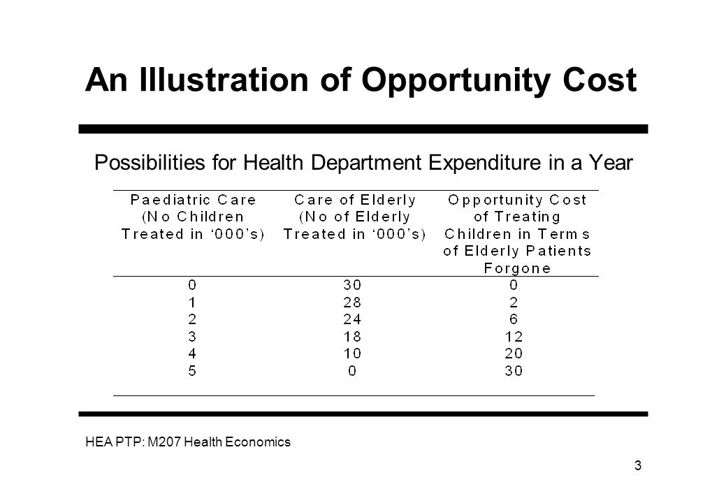 An Illustration of Opportunity Cost