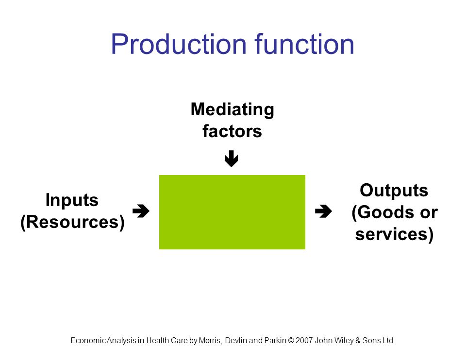 Production function Mediating factors  Outputs Inputs