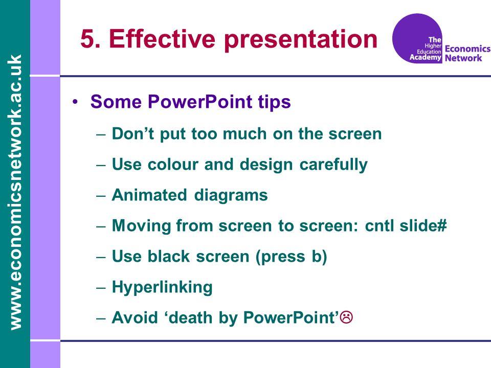 5. Effective presentation