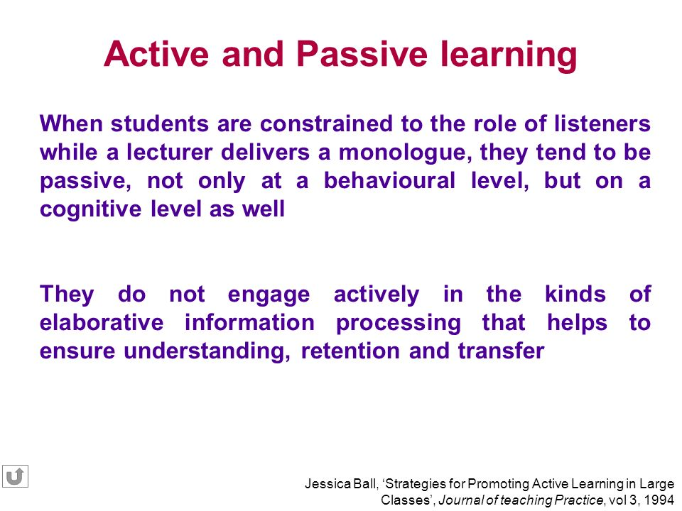 Active and Passive learning
