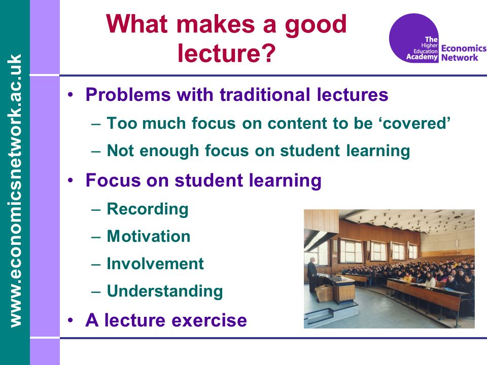 What makes a good lecture