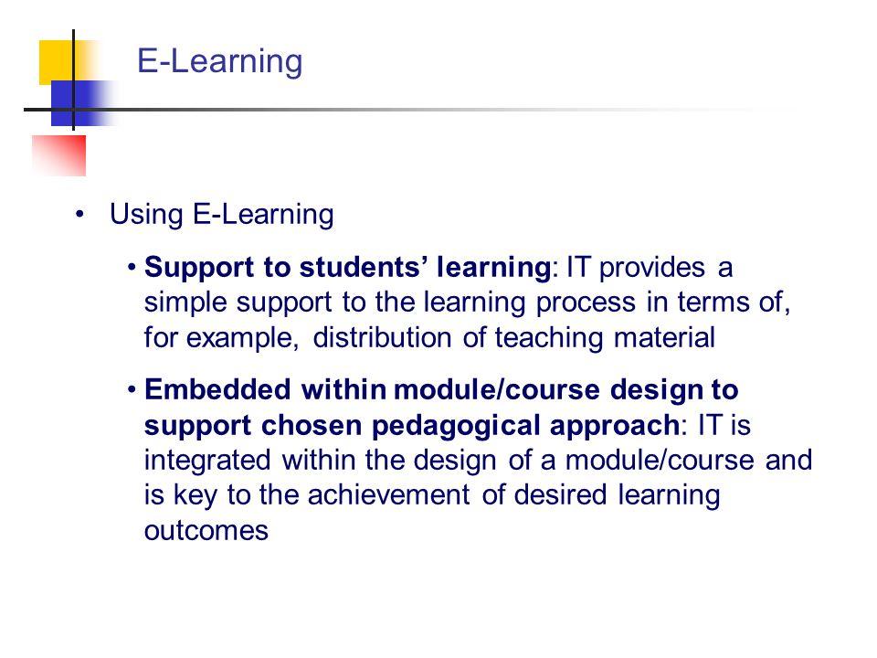 E-Learning Using E-Learning