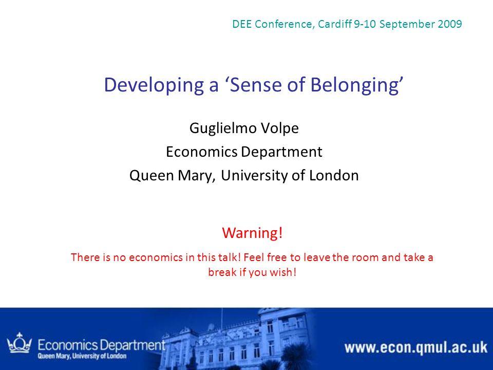 Developing a 'Sense of Belonging'