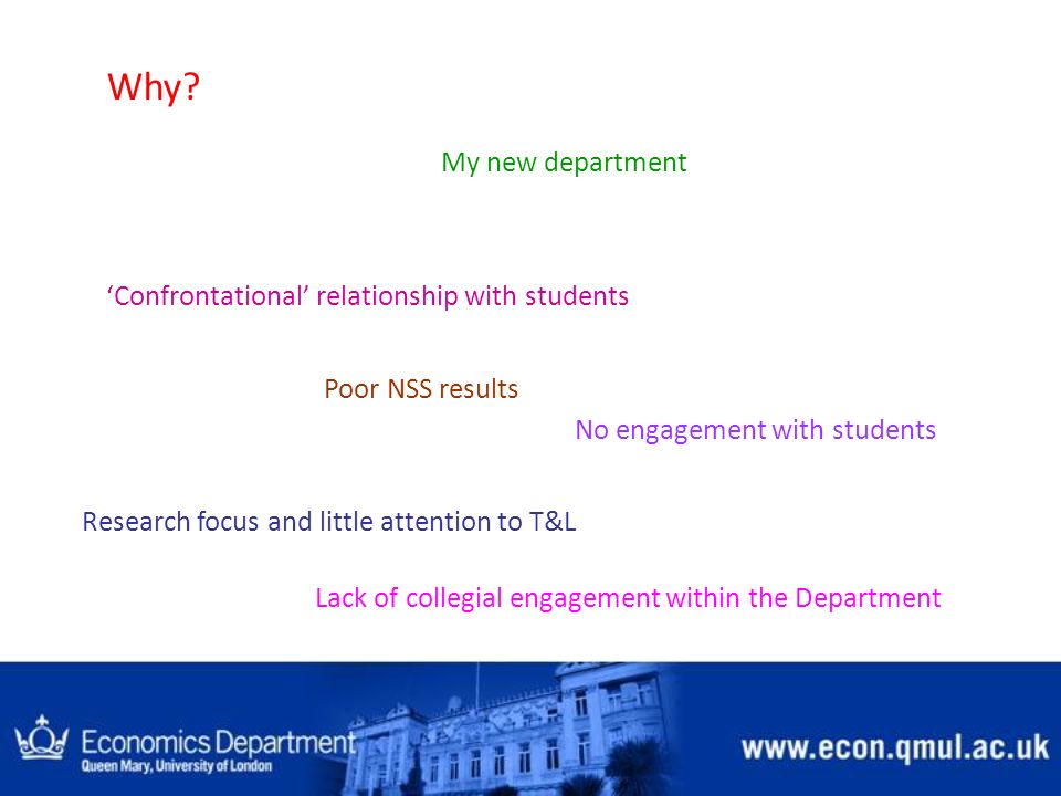 Why My new department 'Confrontational' relationship with students