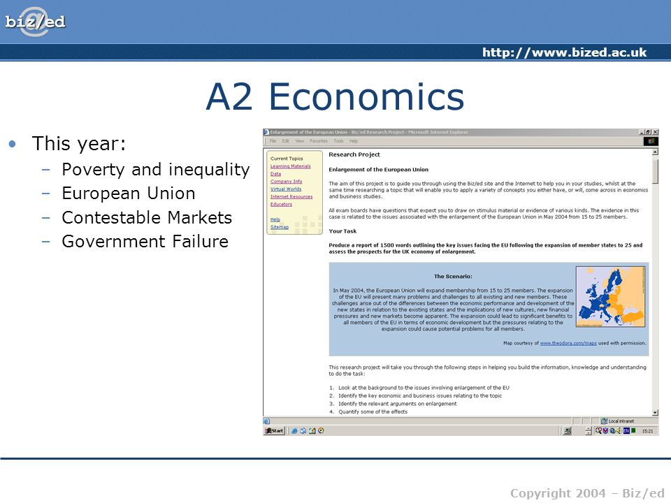 A2 Economics This year: Poverty and inequality European Union