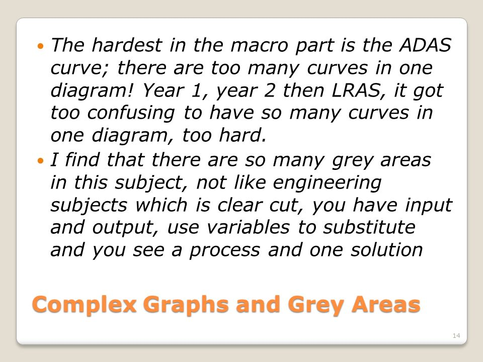 Complex Graphs and Grey Areas