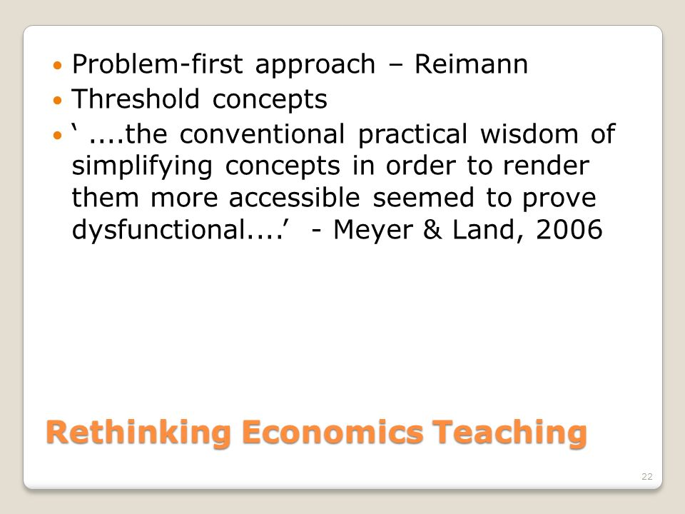 Rethinking Economics Teaching