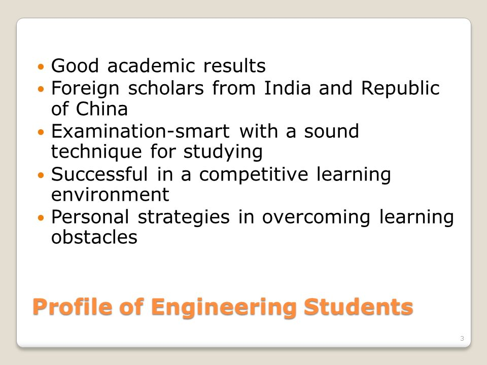 Profile of Engineering Students