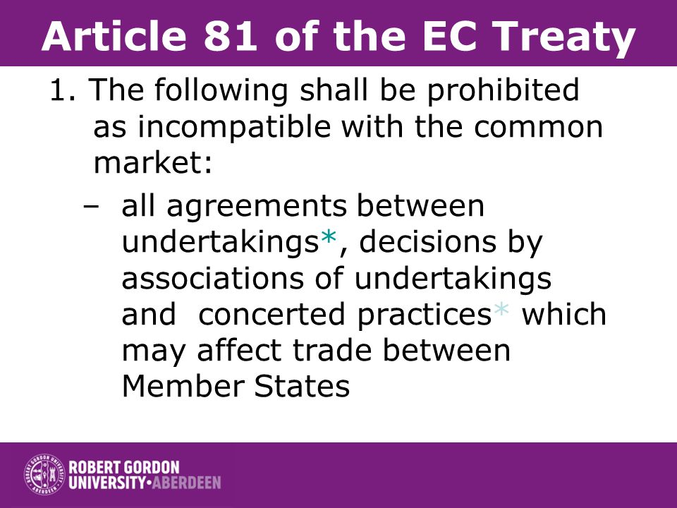 Article 81 of the EC Treaty