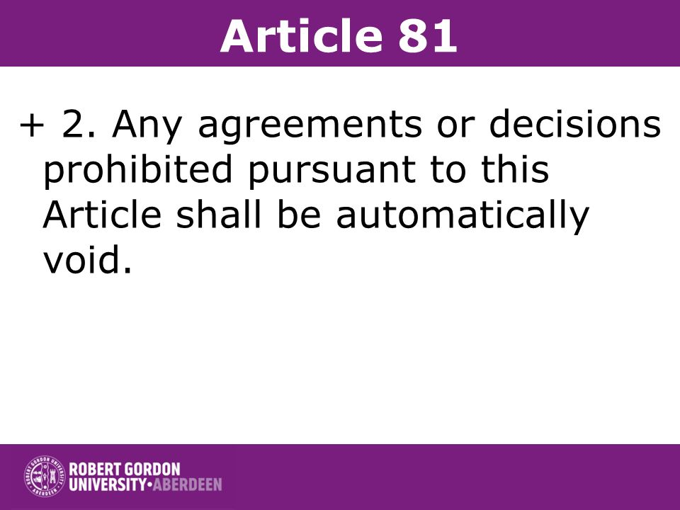 Article 81 + 2.