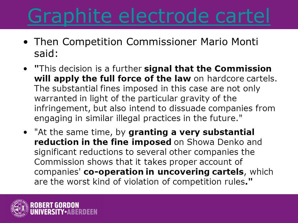 Graphite electrode cartel