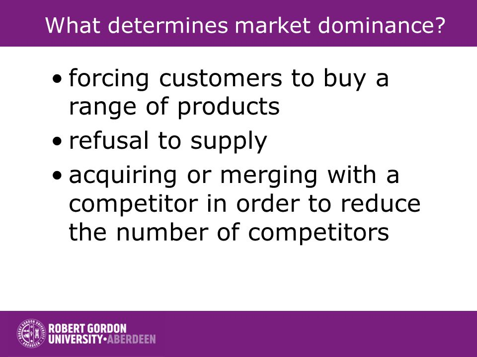What determines market dominance
