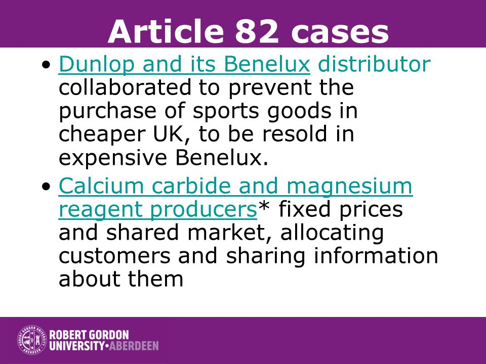 Article 82 cases