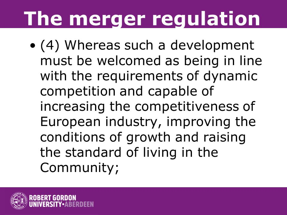 The merger regulation