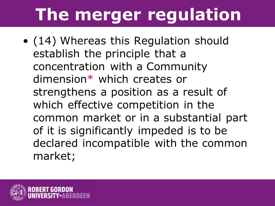 The merger regulation
