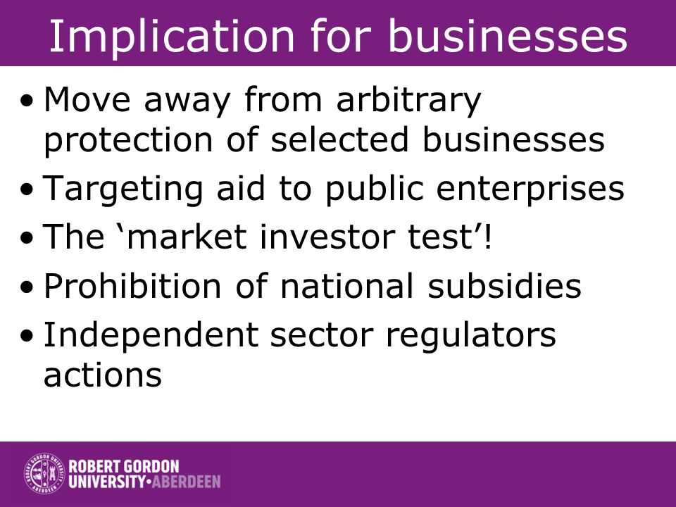Implication for businesses