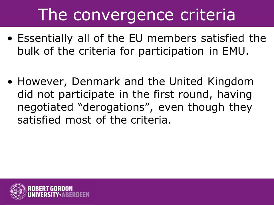 The convergence criteria