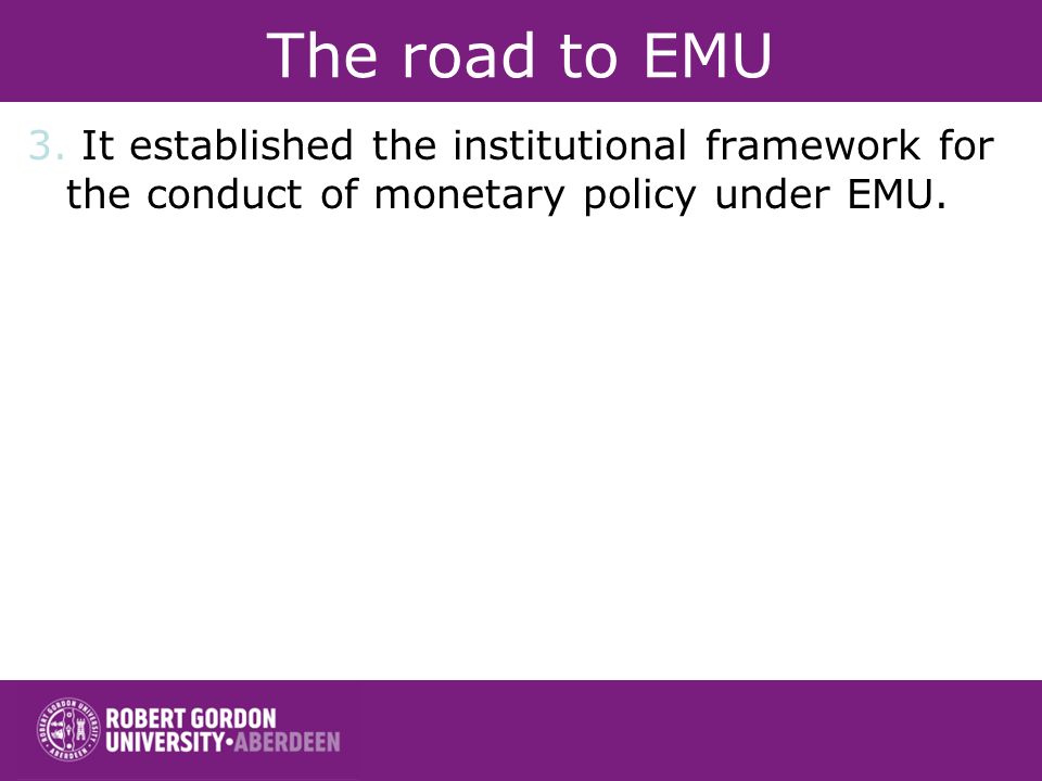 The road to EMU 3.