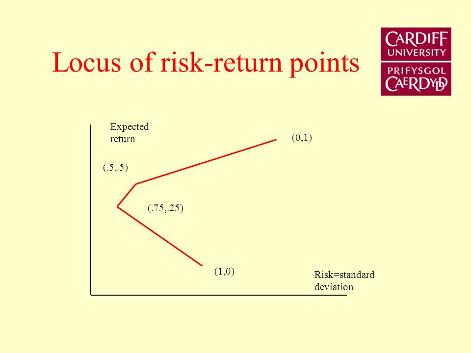 Locus of risk-return points