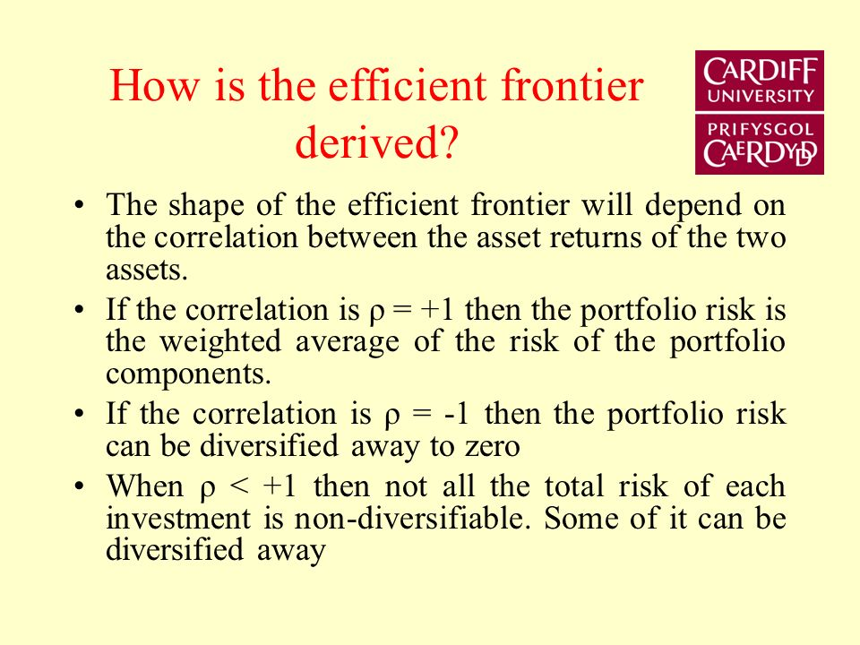 How is the efficient frontier derived