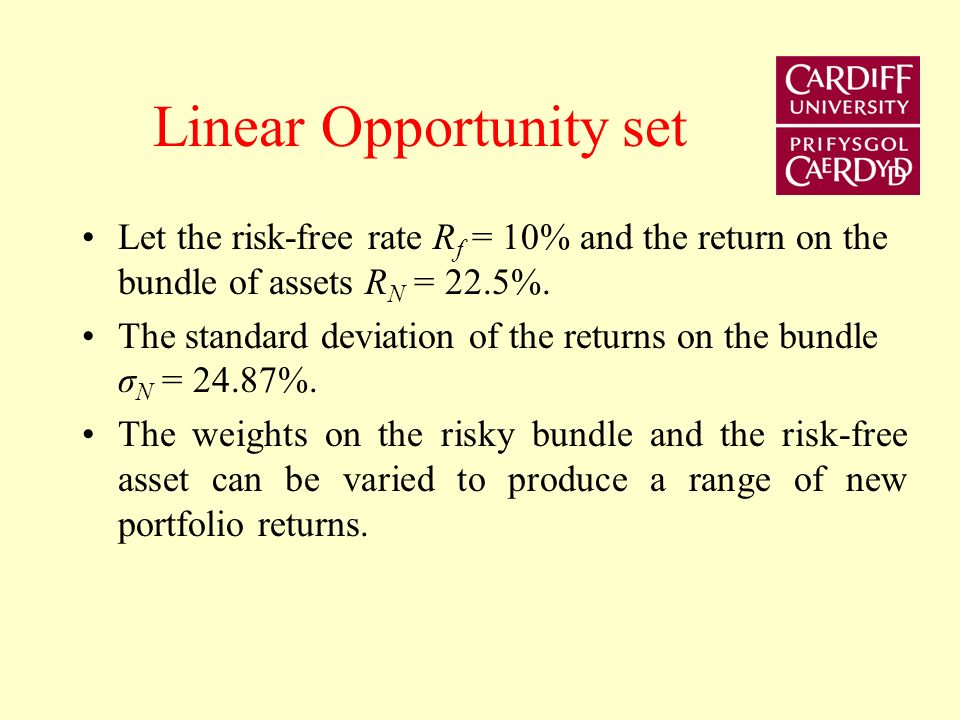 Linear Opportunity set