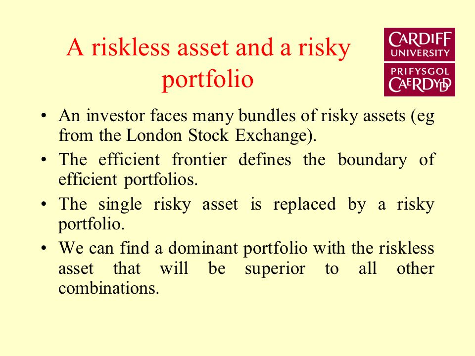 A riskless asset and a risky portfolio