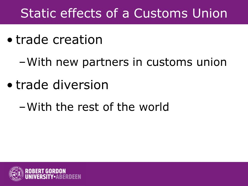 Static effects of a Customs Union