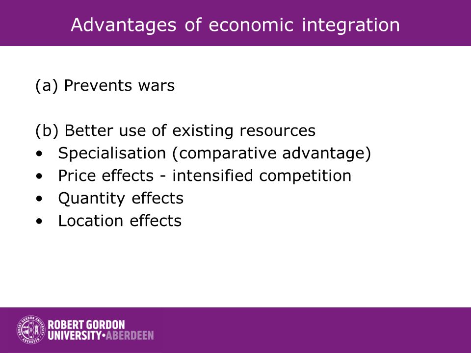 Advantages of economic integration