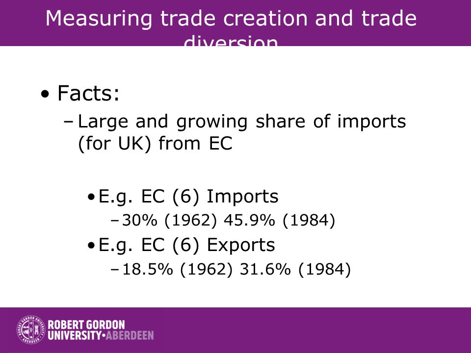 Measuring trade creation and trade diversion