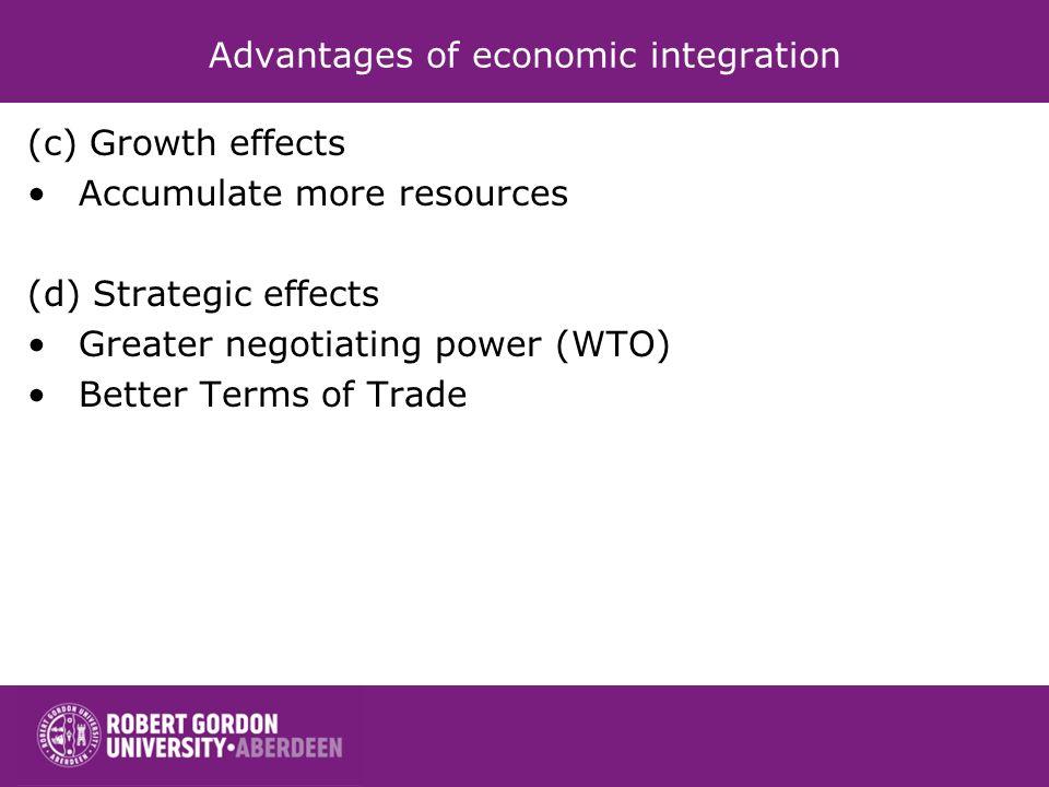 Advantages of economic integration
